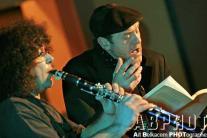 Sylvain Kassap à la clarinette et Jacques Bonnaffé à la lecture