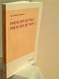 Poète bien qu'oui poète bin qu'non? – le livre