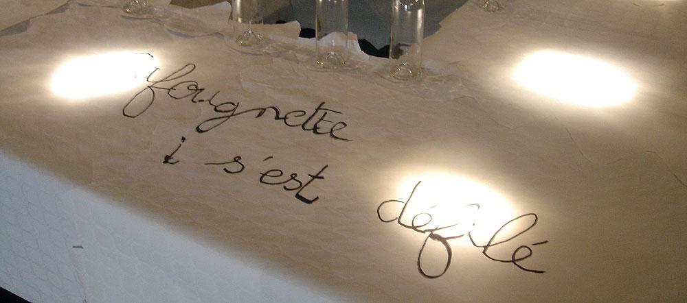 Table de banquet: Cafougnette s'est défilé