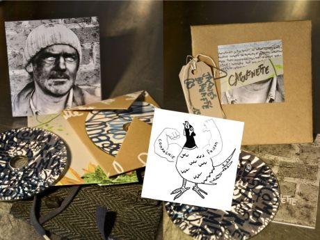 CD pochette tissu, enveloppe et papiers anciens