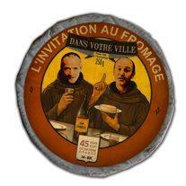 Comme deux moines en étiquette de boîte de camembert
