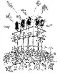 Bal tragique à Beaubourg par Willem, dessin d'humour